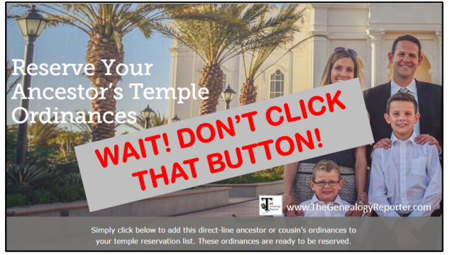 Before You Click That Button: Receiving an Email with a Name for the Temple