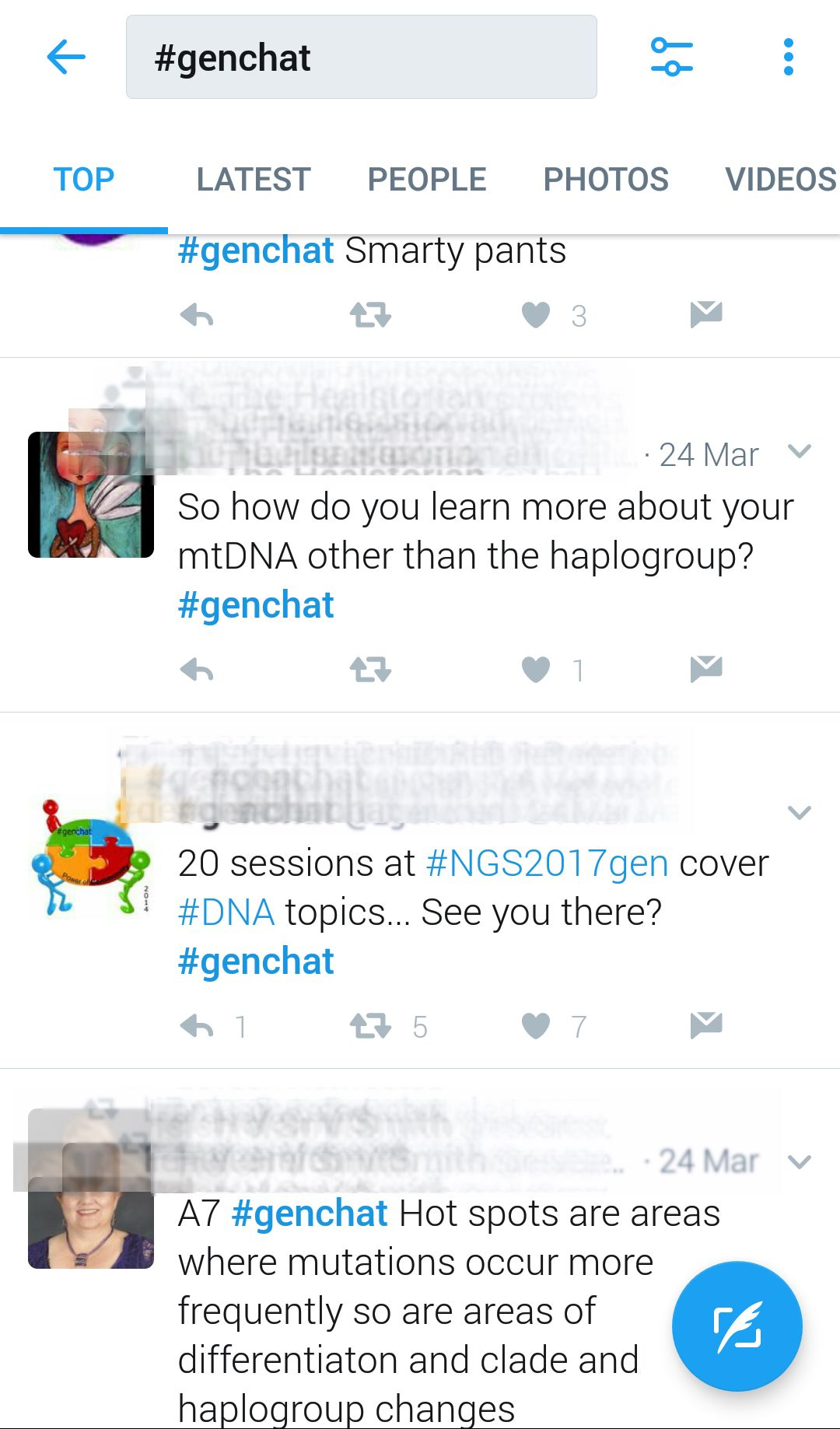 twitter chat uses hashtags for genealogy