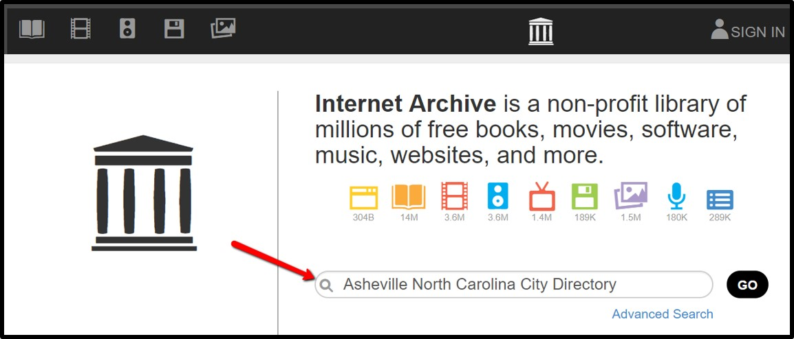 city directories at Internet Archive