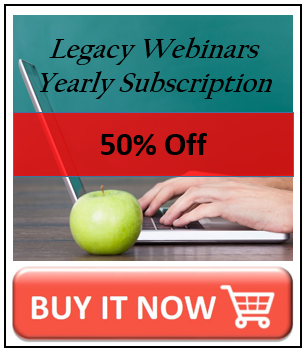 Legacy webinars discount