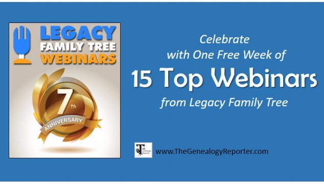 Legacy Family Tree Webinars Celebrates 7 Years with a Gift for You
