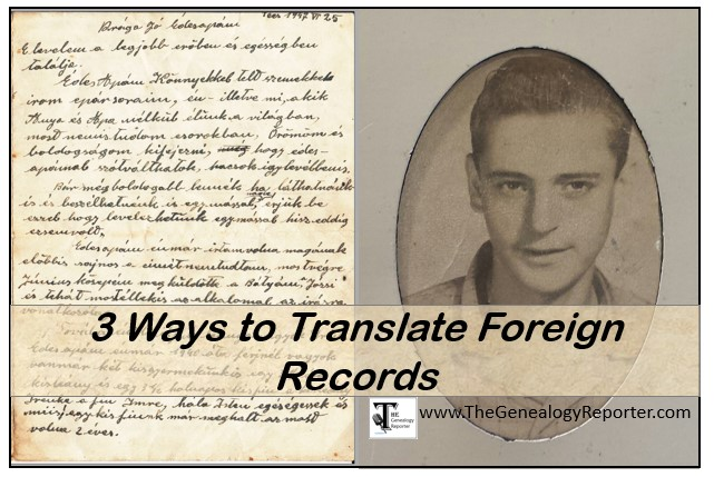 translate foreign records for genealogy easily