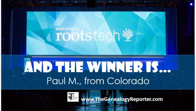 Our RootsTech 2018 4-day Pass Winner is…