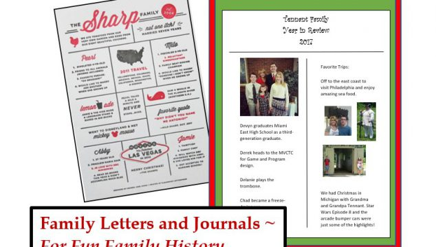 Year-in-Review Letters and Family Journals for Genealogy