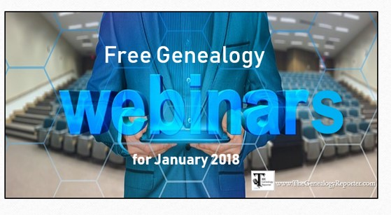 Free Genealogy Webinars for January 2018