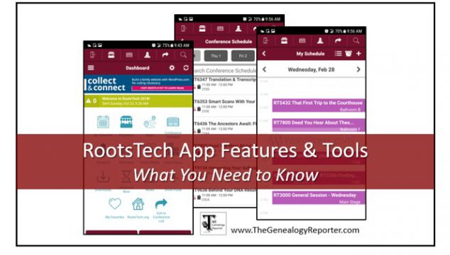 RootsTech App Helps Attendees with Daily Planning and More