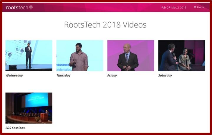 RootsTech Genealogy Webinars