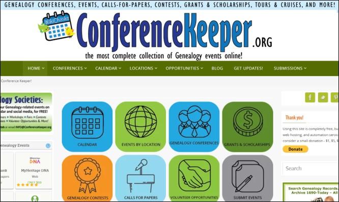 genealogy conference speaker proposal at Conference Keeper