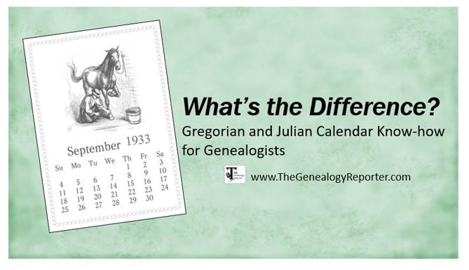Julian vs Gregorian calendar for genealogy