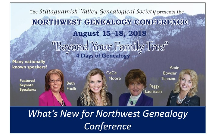2018 Northwest Genealogy Conference Speakers